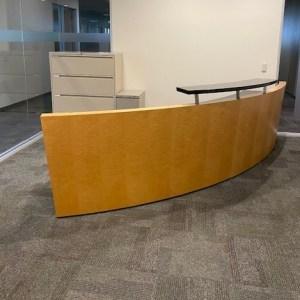 Custom Arc Shape Reception Station, 12′