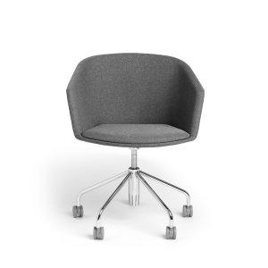 Poppin Pitch Meeting Chair, Dark Gray