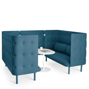Poppin QT Sofa Booth, Teal