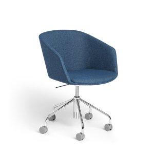 Poppin Pitch Meeting Chair, Dark Blue