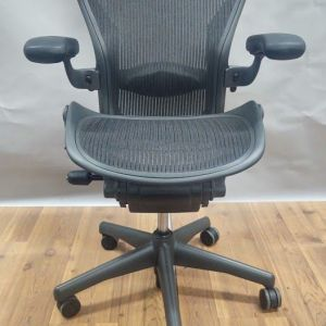 Herman Miller Aeron 'B' Work Chair (Carbon) 3 Tab