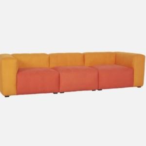HAY Mags Soft Modular 3 Seater Sofa-Goldenrod/Orange