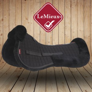 LeMieux Sheepskin Black Wool Saddle Pads
