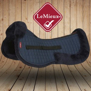 LeMieux Sheepskin Navy Wool Saddle Pads