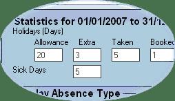 Focus calendar stats closeup