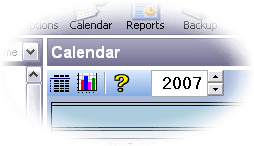 Focus calendar topbar closeup