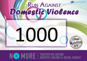 graphic regarding Printable Race Bibs Free named Produce your particular runners bib for #RunAgainstDV - Crystal clear Charity