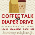 Coffee Talk & Diaper Drive with CSUF Generation United Nations