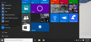 Windows 10 Start Menu Screen