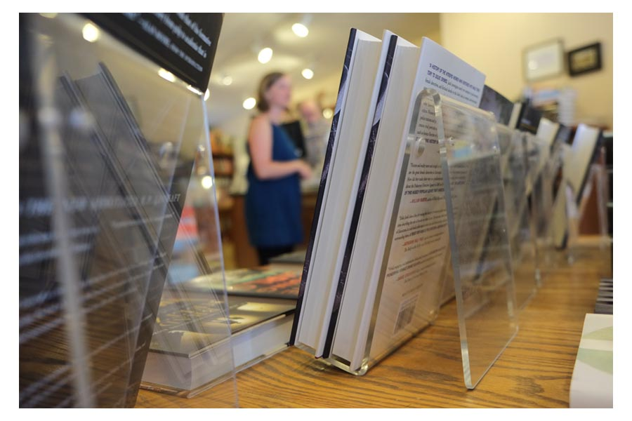 countertop book displays from clear