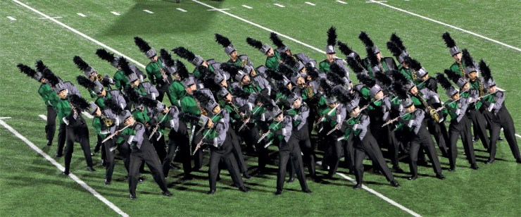 CFHS Woodwinds in their 2018 Marching Show, The Fire Within