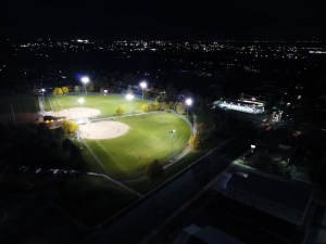 softball fields at night