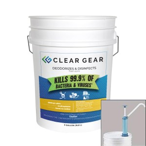 5 gallon pail pump of Clear Gear Disinfectant Spray