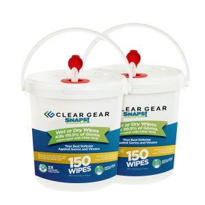 2 Pack - 150 Wipes for Clear Gear Disinfectant