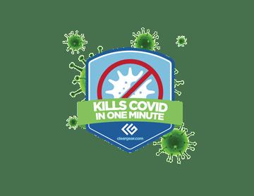 Clear Gear Kills Covid Badge