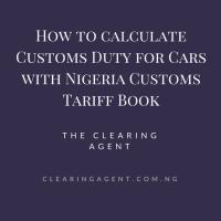 Nigeria Customs Tariff Book for Cars in 2019