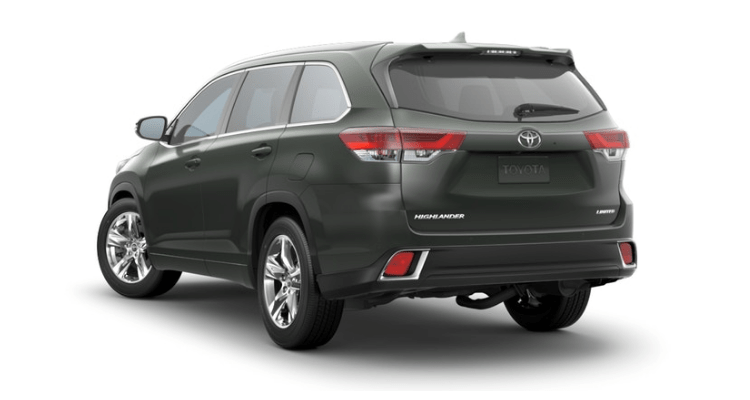 2018 Toyota Highlander back