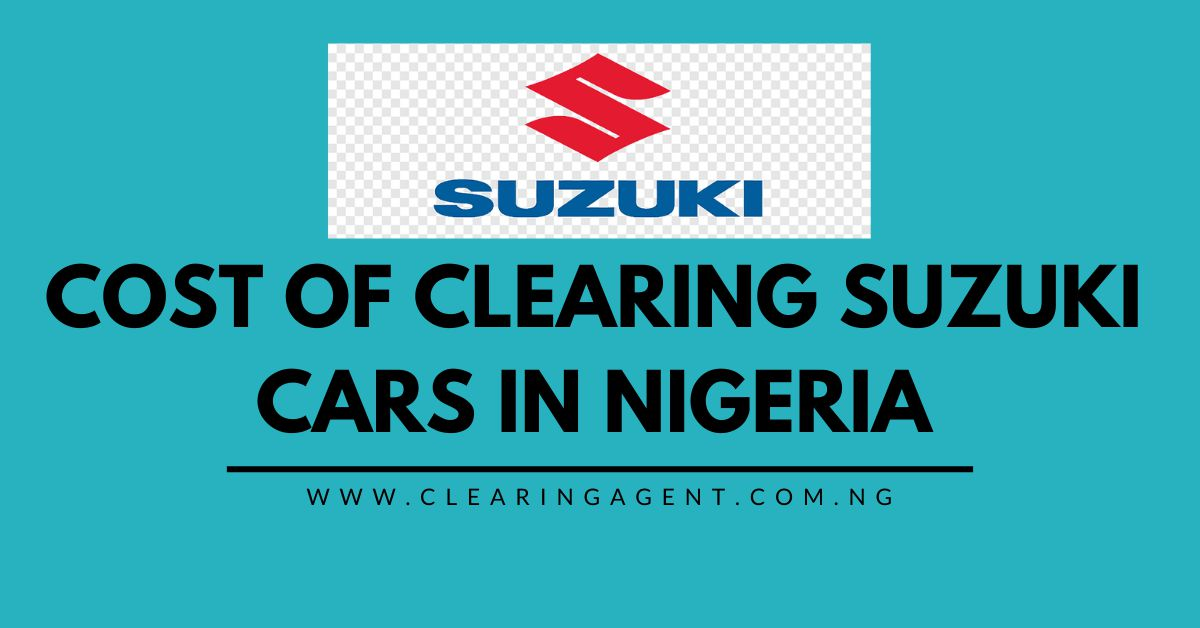 Cost of Clearing Suzuki Cars