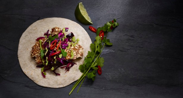 Crispy Cauliflower Tacos With Slaw & Avocados