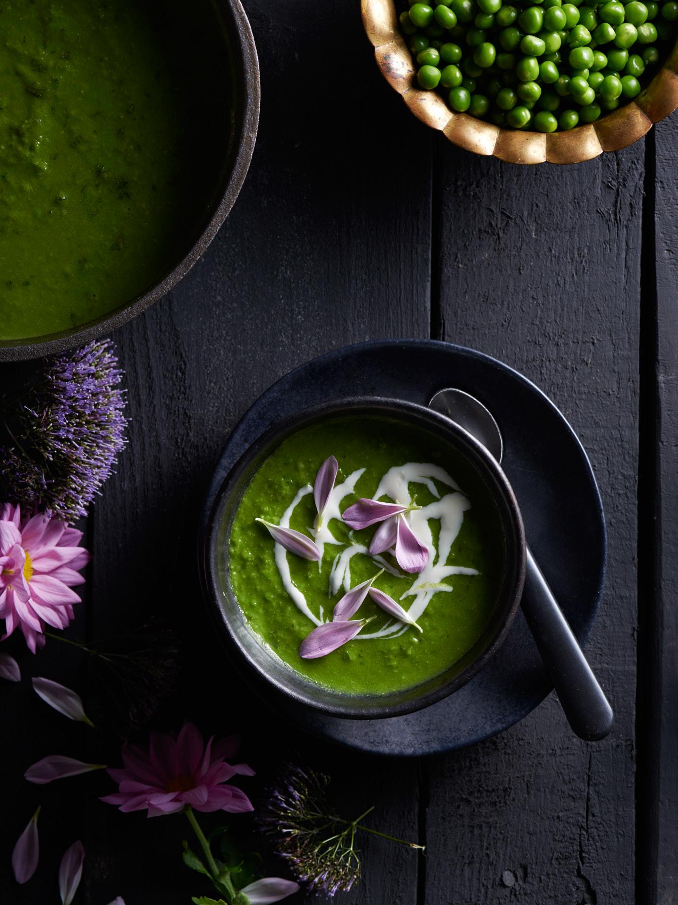 flower pea soup