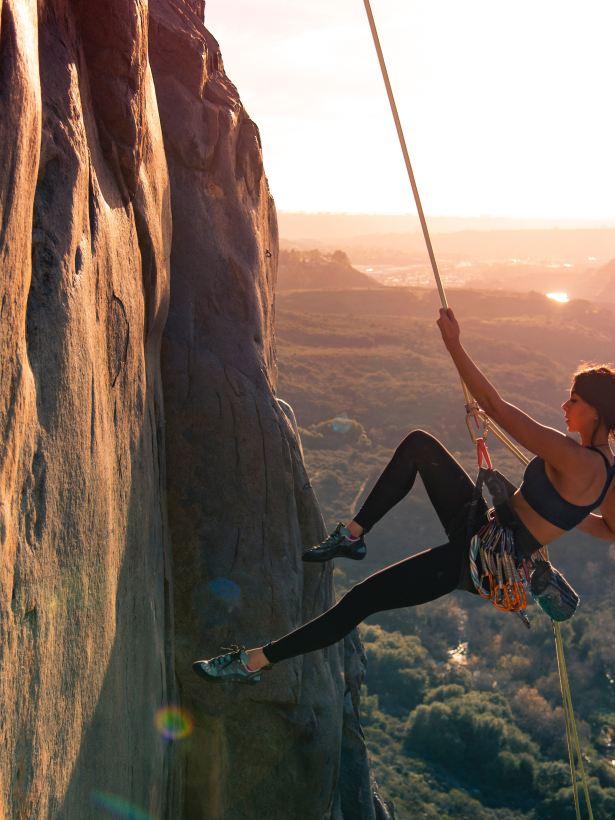 girl rock climbing