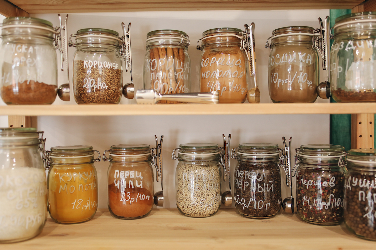 organized jars for the perfect pantry