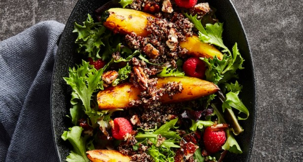 Balsamic Raspberry Pecan Squash Salad