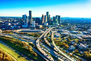 Vue aérienne de Houston