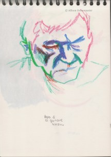 A sketch of my dad. (Oil pastels).