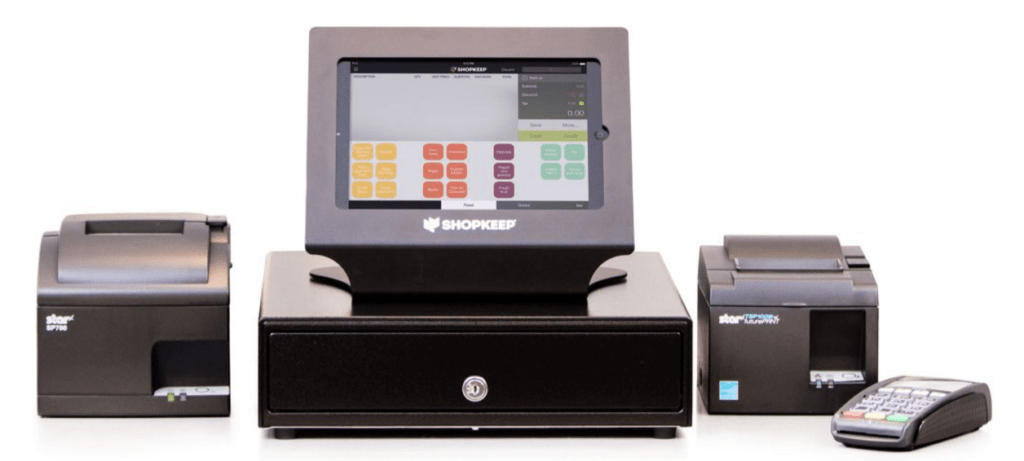 iPads, Printers, Cash Drawers, Barcode Scanners, Paper, Credit Card Readers