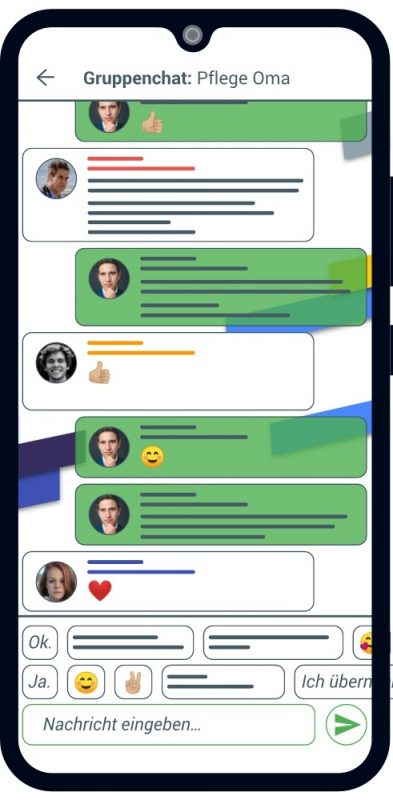 clearTime Chat mit Oma und der Familie