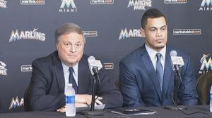 Stanton and owner Jeffrey Loria.