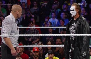 The highly anticipated meeting between Triple H and Sting