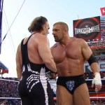 Triple H and Sting share a Wrestlemania moment