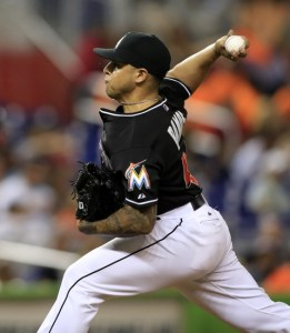 Miami Marlins relief pitcher A.J. Ramos Mandatory Credit: Robert Mayer-USA TODAY Sports