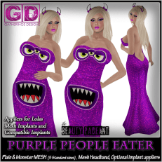 GD Mesh Jessica Gown Purple People Eater