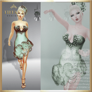 TD Salsa Dress with Appliers - Green v