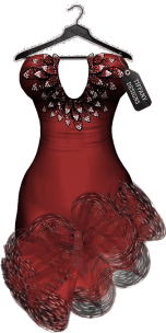 TD Salsa Dress with Appliers - Red