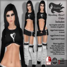 Tameless Clothing Package Bleeding Heart - White
