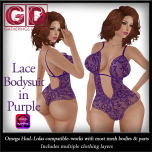 GD Lace Bodysuit Purple