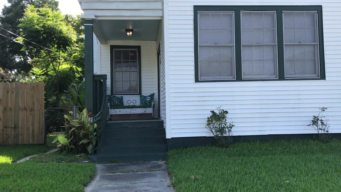 An image of the front of our house in New Orleans for the First Taste of New Orleans post