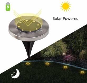 led valot puutarhan nurmikolle aurinkoenergialla toimiva
