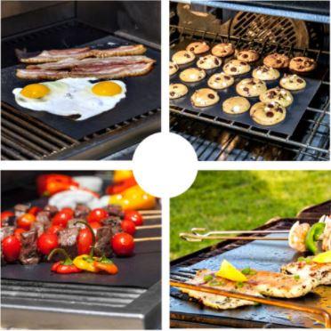 Erilaiset grillattavat ruoat grillissä