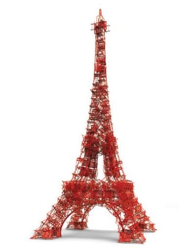 Tour Eiffel Fermob Rouge Paris Anniversaire Quai De Seine Chaise Bistro