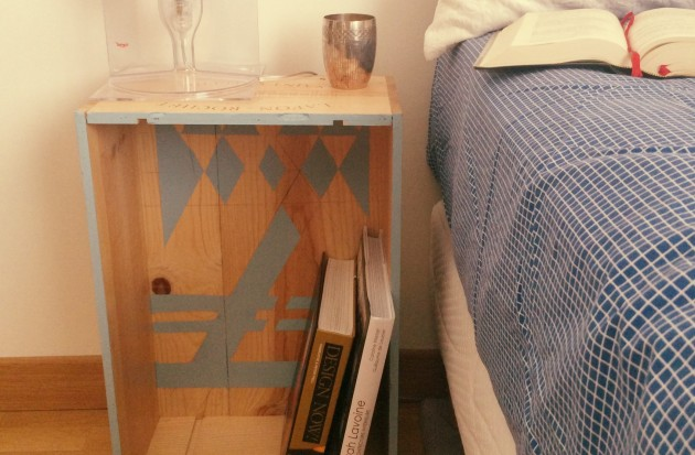 Table De Chevet En Caisse A Vin Diy Clem Around The Corner