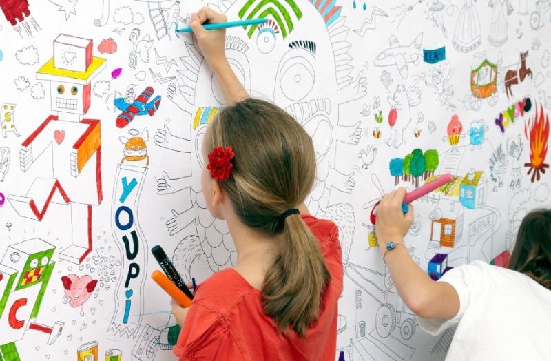 papier peint colorier et personnaliser blog d co. Black Bedroom Furniture Sets. Home Design Ideas
