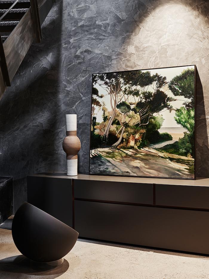 un loft cosy comme une galerie d'art