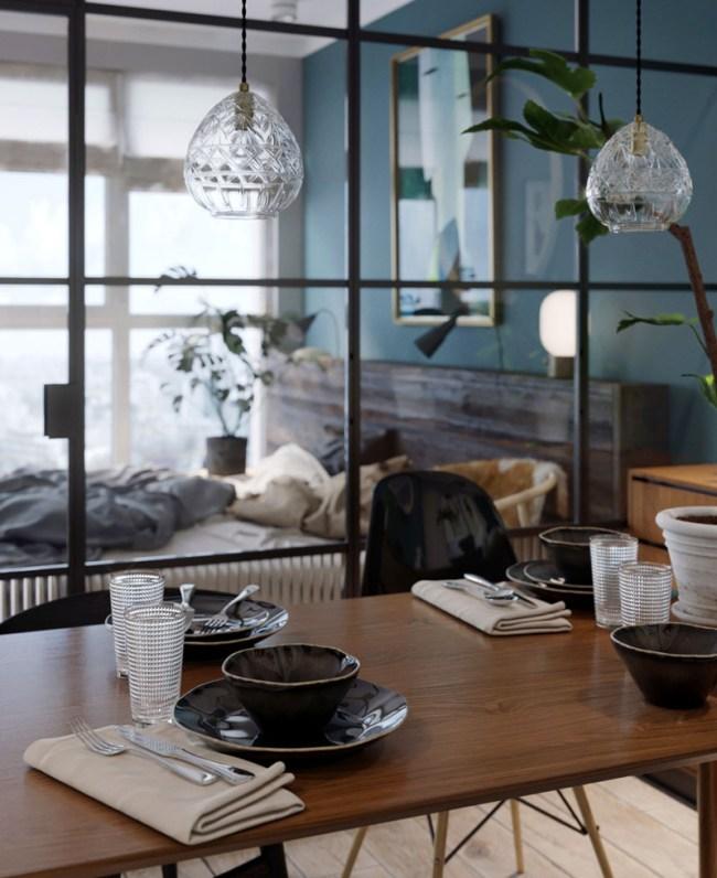 Mur Bleu Canard Et Style Loft Blog Deco Clem Around The Corner