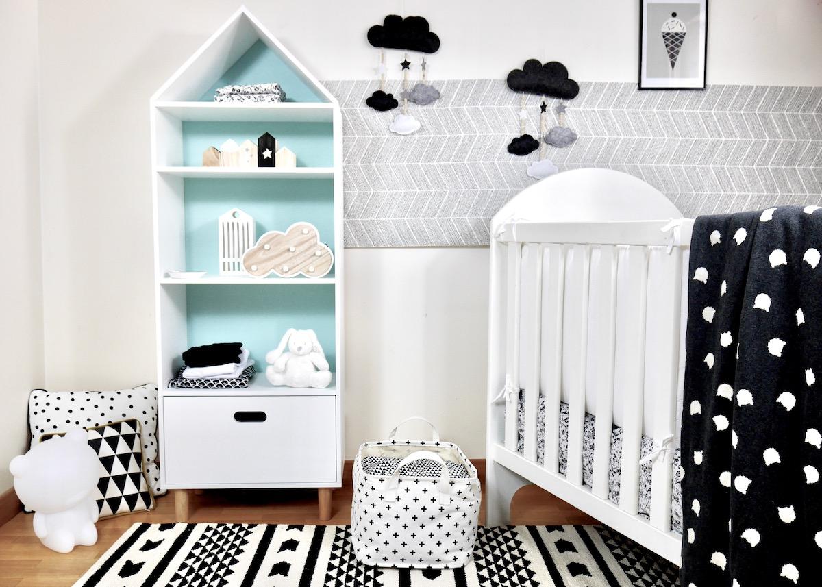 Déco chambre bébé en noir et blanc - Blog deco Clem ATC