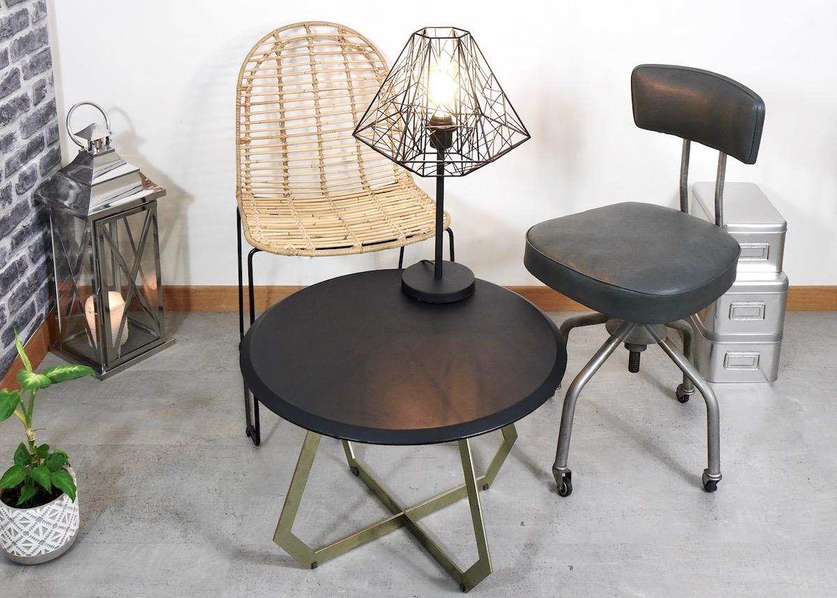 Salon style industriel : deco pas chere et rapide - Clem Around The Corner